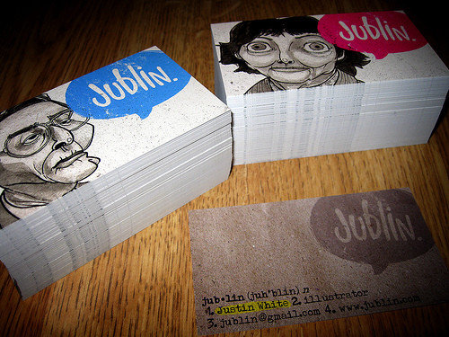 Business Card Design: jublin - business time