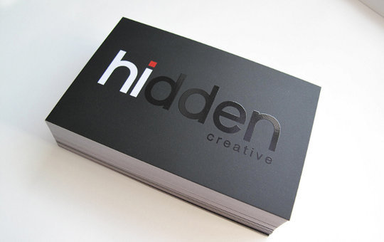 Business Card Design: Hidden Creative - Business Card Design