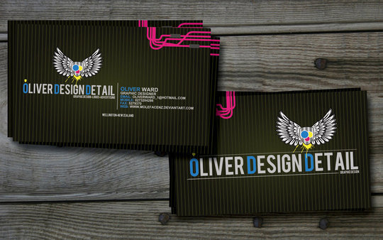 Business Card Design: MolefaceNZ - ODD BUSINESS CARD VERSION 2