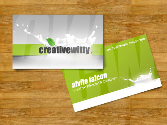 business card design alvito creativewitty business card