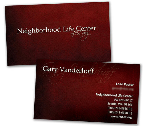 Business Card Design:  - Business Card (red)