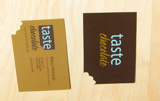 Business Card Design: Taste Chocolate - Business Card Design