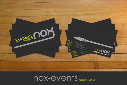 Business Card Design: 7UR - .:nox cards:.