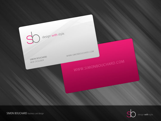 55 beautiful business card designs the jotform blog business card design simonbouchard simon bouchard business card reheart Images