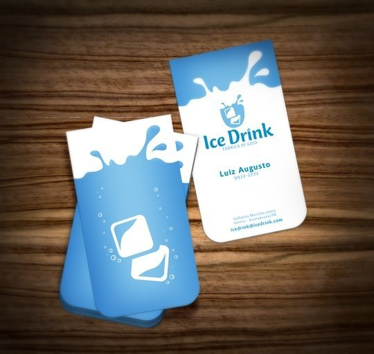 Business Card Design: muriloVM - Ice Drink - Business Card