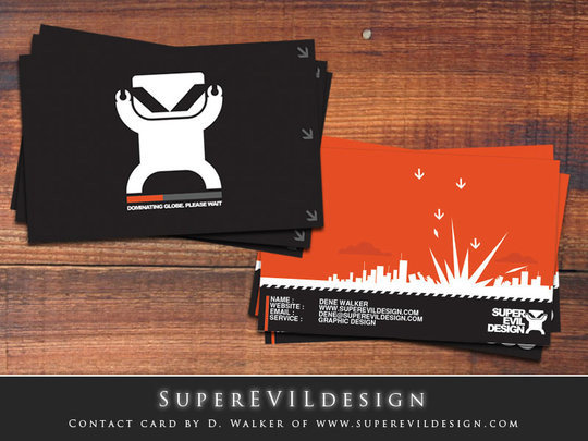 Business Card Design: skm-industries - Superevilbusinesscards