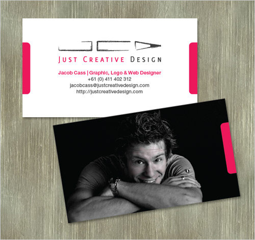 Business Card Design: Jacob Cass - Just Creative Design Business Card