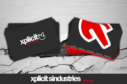 Business Card Design: 7UR - .:xplicit business cards:.