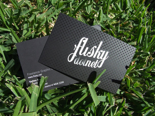 Business Card Design: flisk - flisky dot net business cards