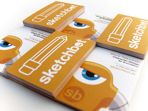 Business Card Design: sketchguy - Sketchbot Biz Card V2