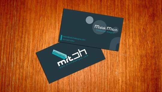 business card design mitch2004 business card idea