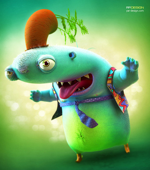 45 Humorous Examples of 3D CG Creatures Artworks