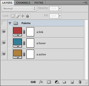 Layers Panel with Palette