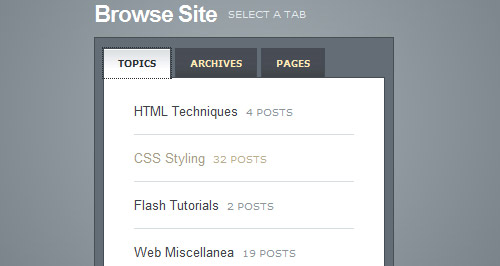 Create a Slick Tabbed Content Area using CSS & jQuery