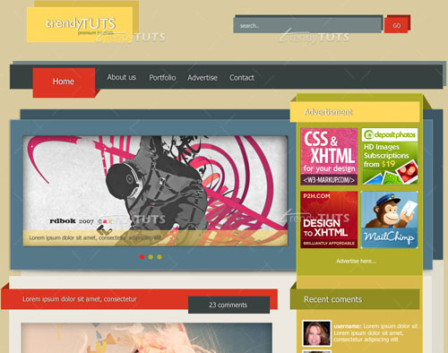 Photoshop Web Design Layout Tutorials from 2010
