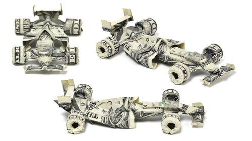 Beautiful Origami Art Made Of Dollars by Won Park