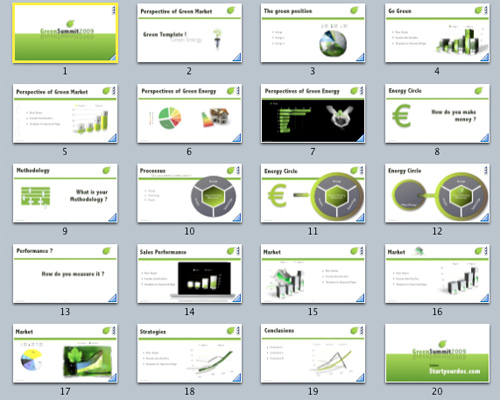 40 awesome keynote and powerpoint templates and resources noupe this green template would be perfect for an eco friendly business it has a simple green and white color scheme with leaf graphics maxwellsz