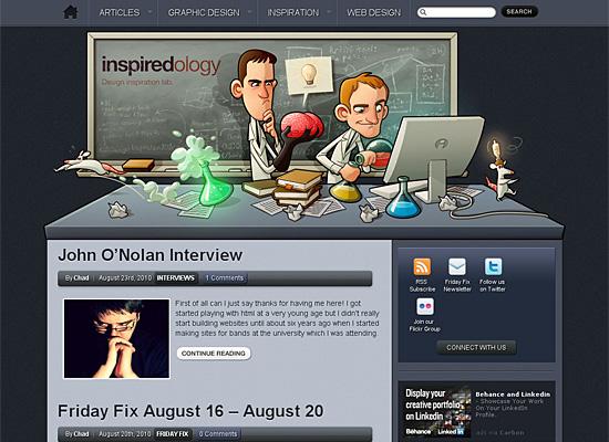 inspiredology website design