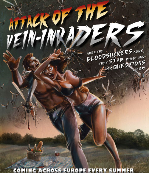 No Skito Repellent Spray:Attack of the Vein-Invaders