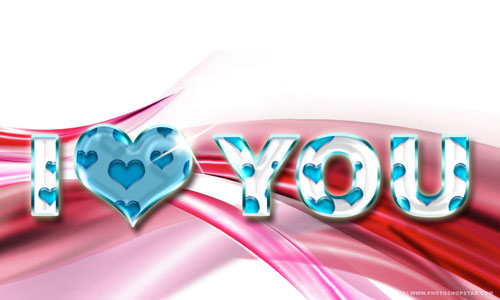 Show Your Love with Semitransparent Amorous Text Effect