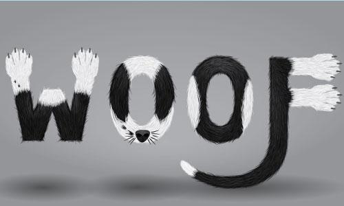 Create a Furry Calligram in Illustrator