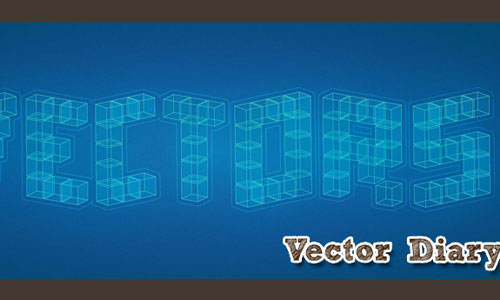 3D Cubic Text Effect