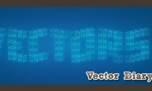 3D Cubic Text Effect