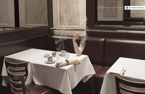Smoking Arm Advertising by creattica