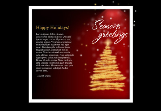 Free html newsletter templates noupe holiday seasons greetings download link screenshot m4hsunfo