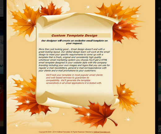 free fall newsletter templates