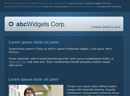 Free html newsletter templates noupe screenshot spiritdancerdesigns Images
