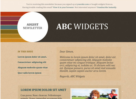 Free html newsletter templates noupe outdoorsy template download link spiritdancerdesigns Images
