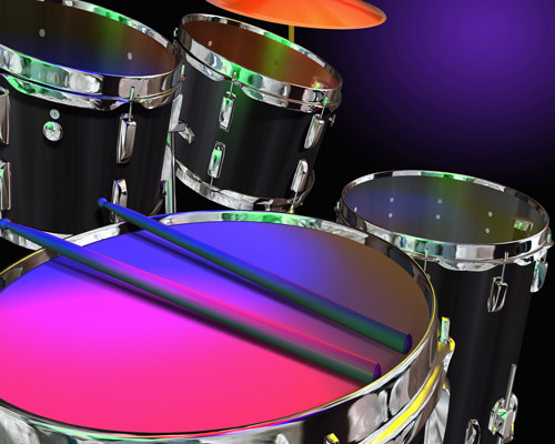 Neon Colored Drums