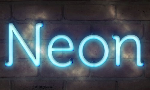 Photoshopping Neon Text