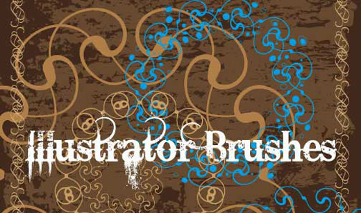 A Huge Compilation of 80 Free Illustrator Brush Sets