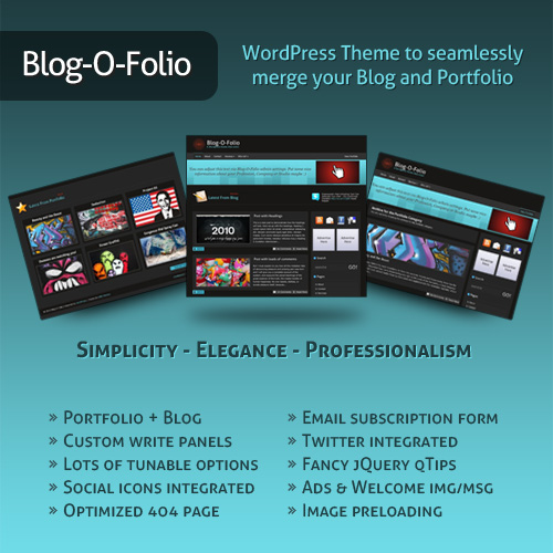 Folio-500 in Freebie: Blog-O-Folio WordPress Theme Version 1.0