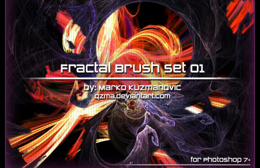 Fractalbrush99 in 100+ Free High Resolution Photoshop Brush Sets
