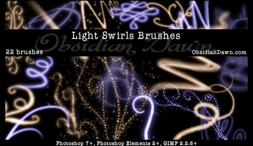 Lighteffectbrush17 in 100+ Free High Resolution Photoshop Brush Sets