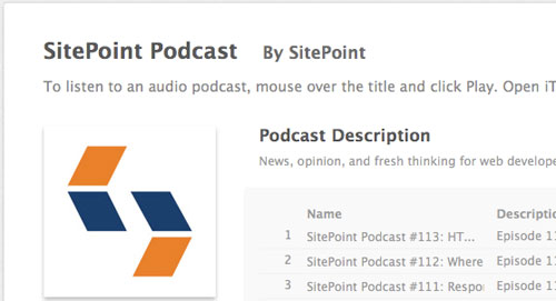Sitepoint in Designing the Airwaves: Podcasts Part in Design
