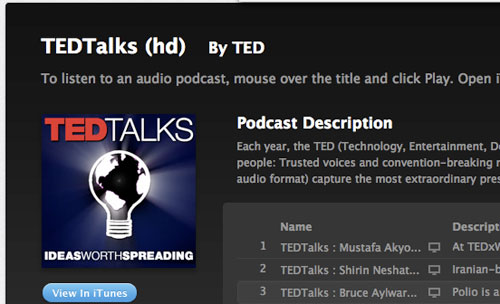 Tedtalks in Designing the Airwaves: Podcasts Part in Design