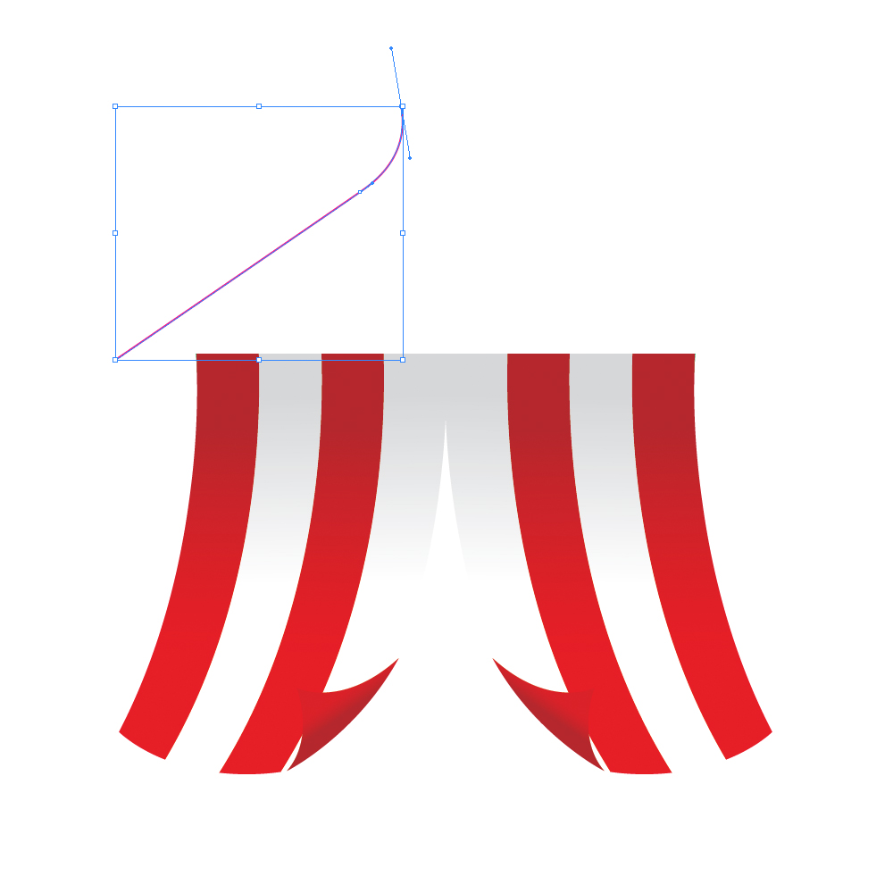 0231 in How to Create a Circus Tent in Adobe Illustrator