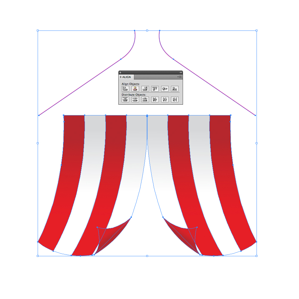 0241 in How to Create a Circus Tent in Adobe Illustrator
