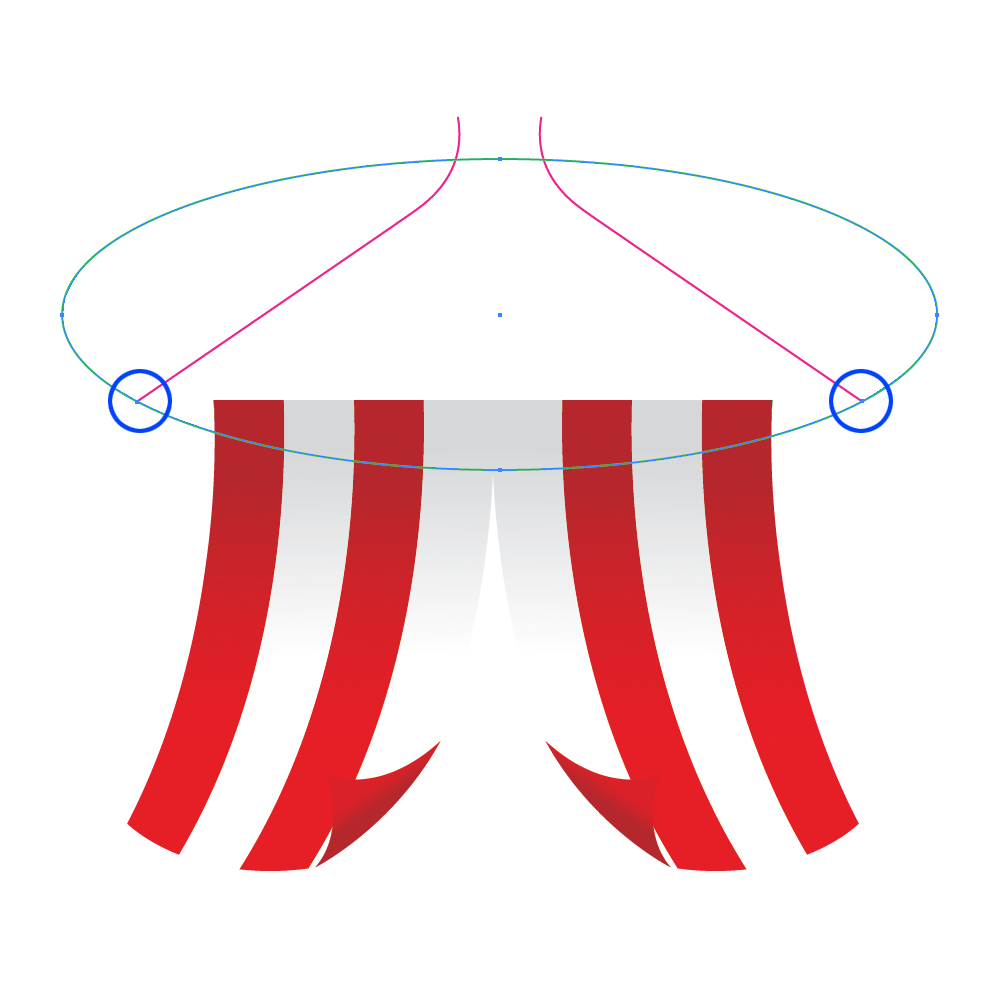 0262 in How to Create a Circus Tent in Adobe Illustrator