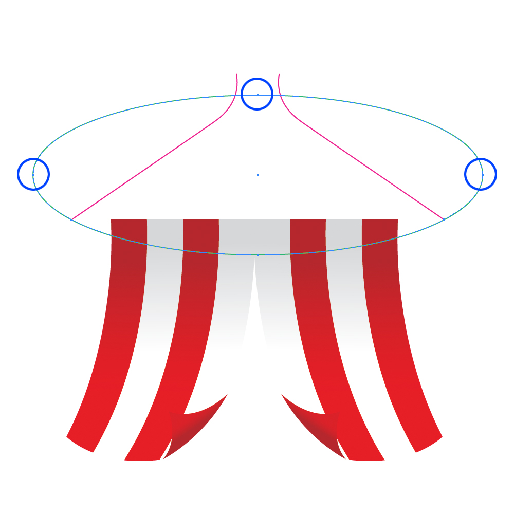 0272 in How to Create a Circus Tent in Adobe Illustrator