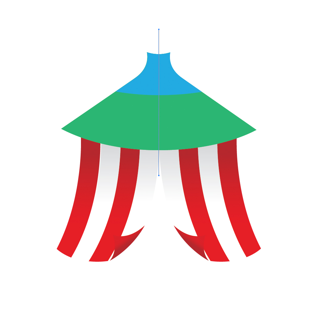 0321 in How to Create a Circus Tent in Adobe Illustrator