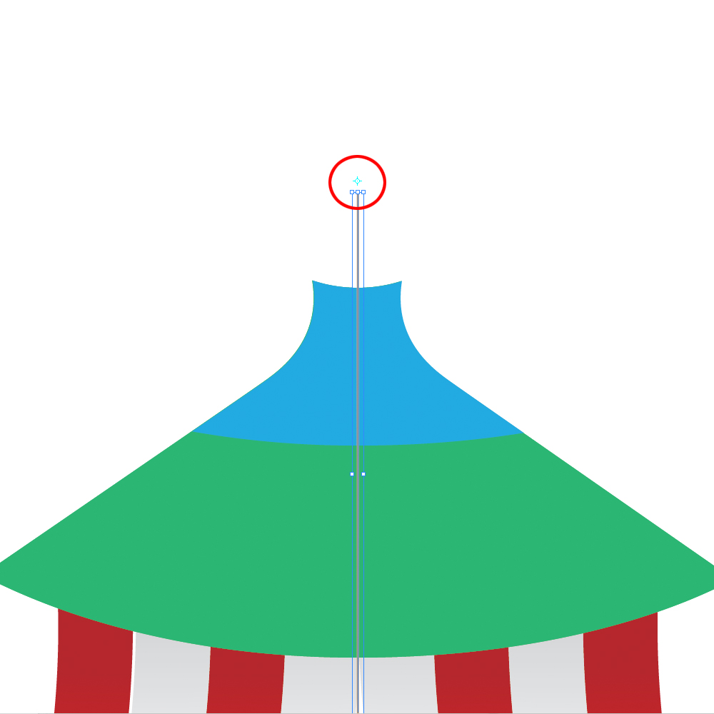 0332 in How to Create a Circus Tent in Adobe Illustrator
