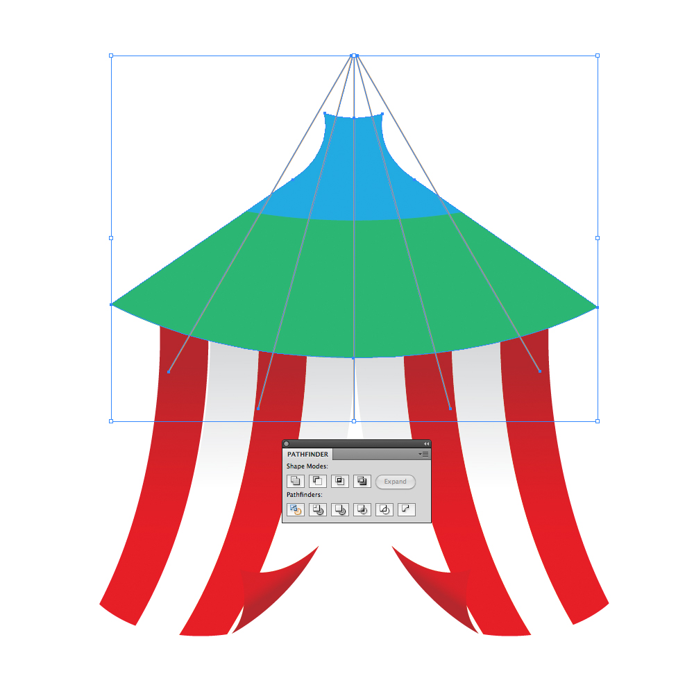 036 in How to Create a Circus Tent in Adobe Illustrator