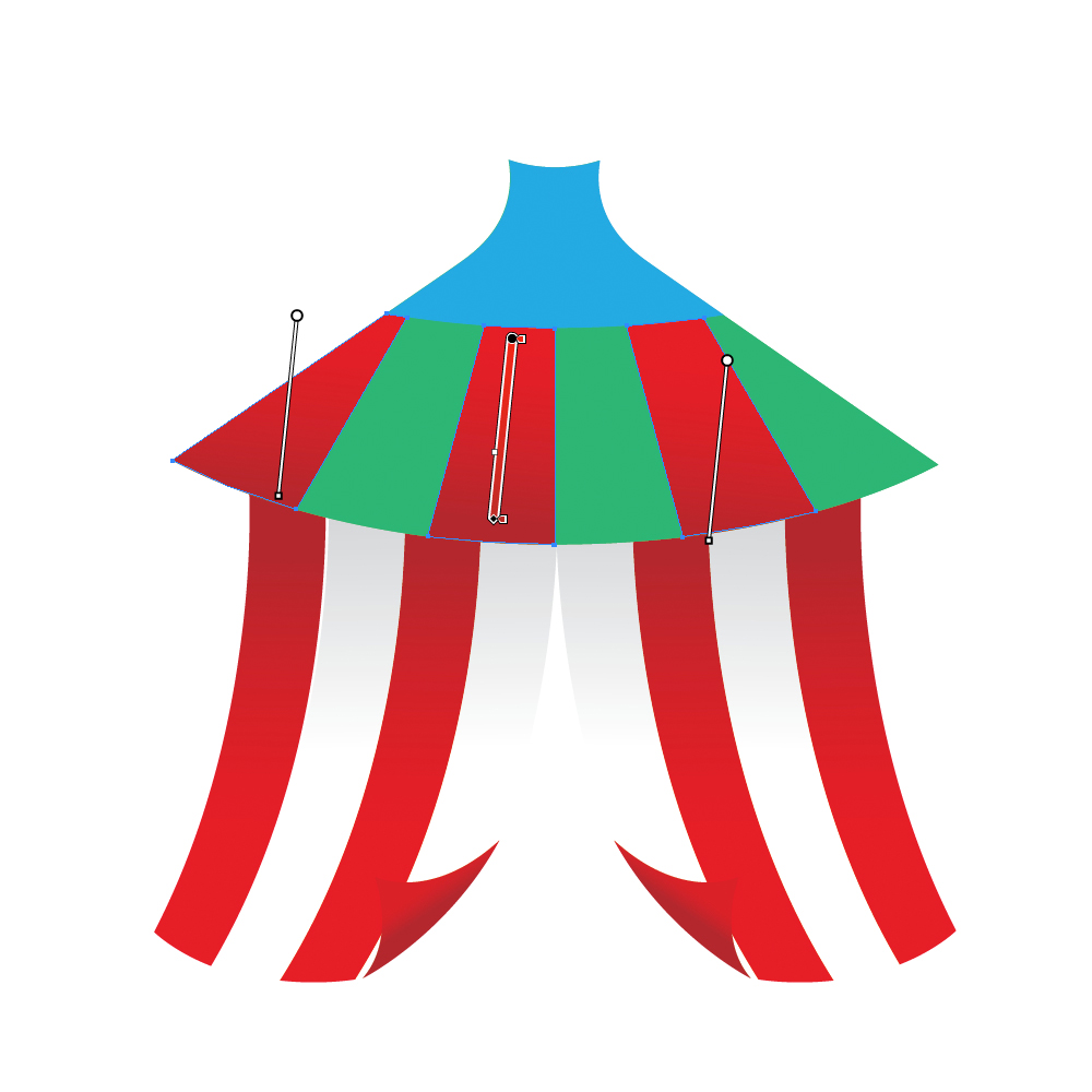 037 in How to Create a Circus Tent in Adobe Illustrator