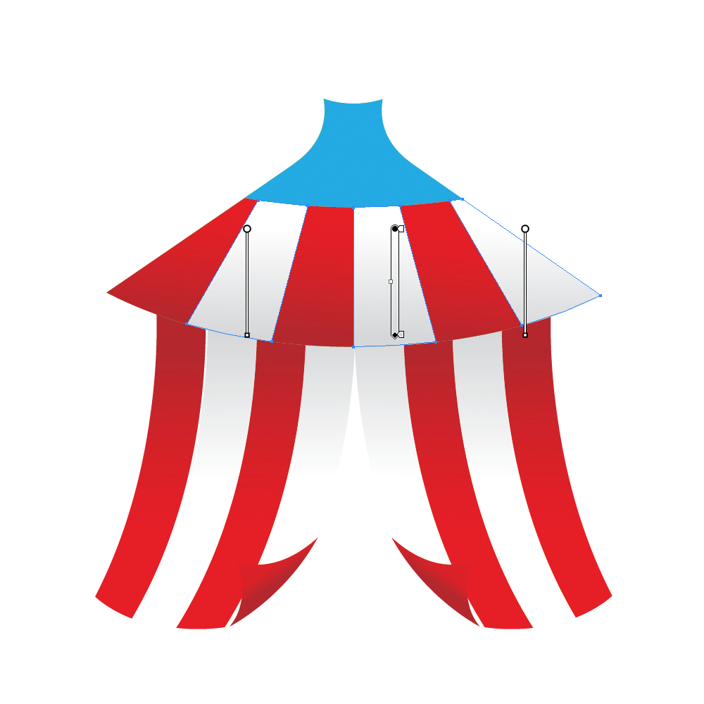 038 in How to Create a Circus Tent in Adobe Illustrator