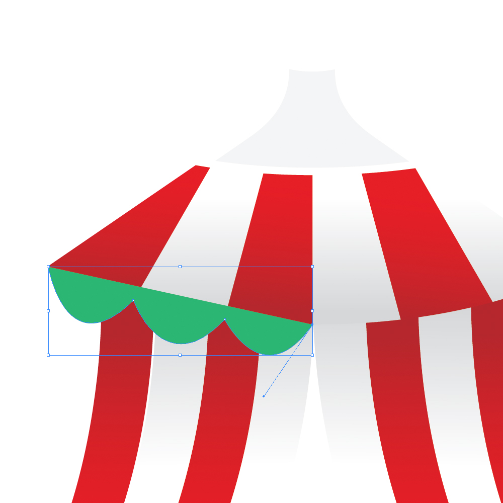 040c in How to Create a Circus Tent in Adobe Illustrator